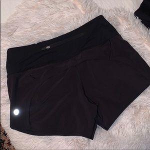 Lulu lemon black running shorts